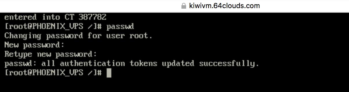 修改root密码